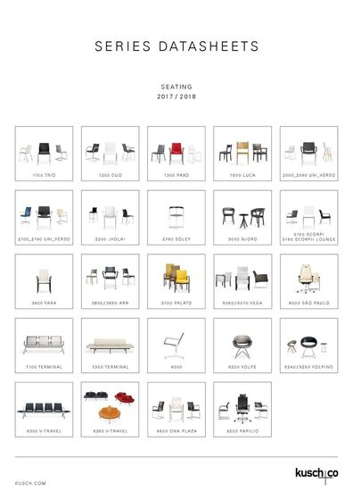 Kusch+Co Series Datasheets Seating 2017/2018