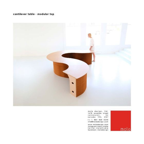 cantilever table ⋅ modular top