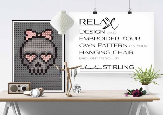 Emboidered Hanging Chairs