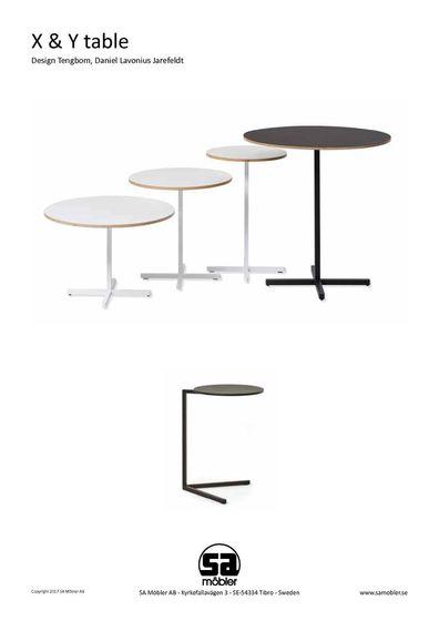sa möbler X & Y table
