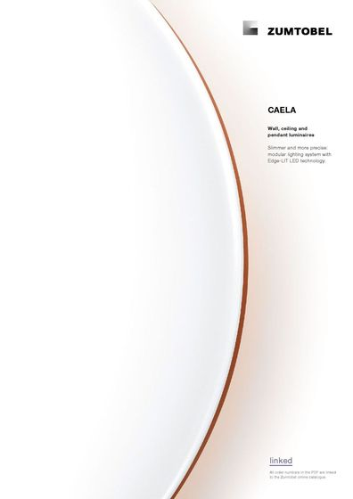 CAELA | Wall, ceiling and pendant luminaires
