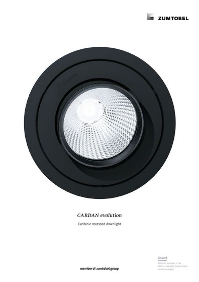 CARDAN evolution | Cardanic recessed downlight