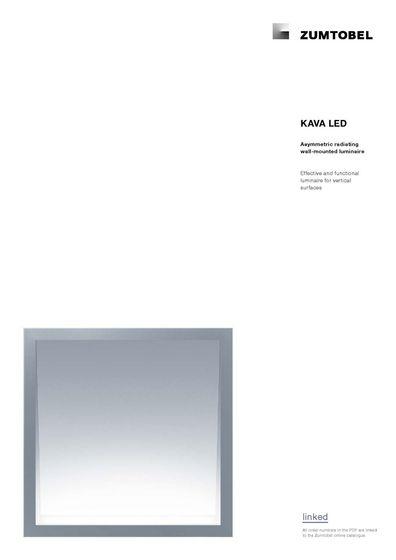 KAVA LED | Asymmetric radiating wall-mounted luminaire