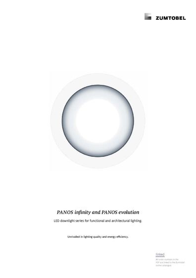 PANOS infinity and PANOS evolution | LED downlight series for functional and architectural lighting.