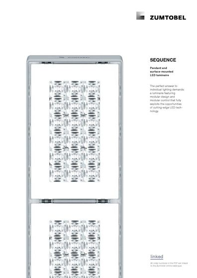 SEQUENCE | Pendant and surface-mounted LED luminaire