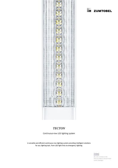 TECTON | Continuous-row LED lighting system