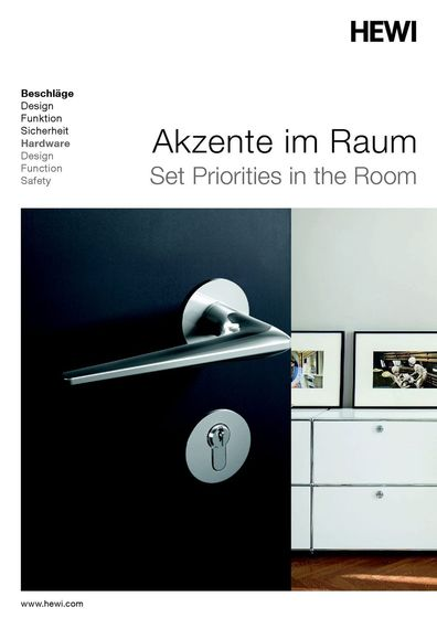 HEWI- Set Priorities in the Room