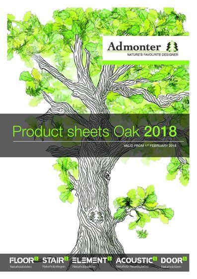 Product sheets Oak 2018