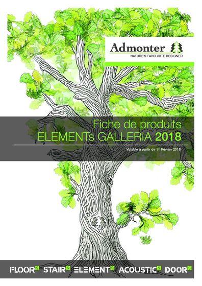 Fiche de produits ELEMENTs GALLERIA 2018