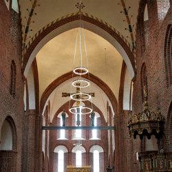 Løgumkloster church LED chandelier