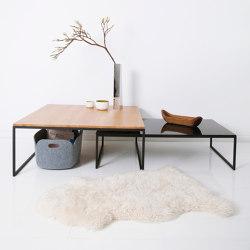Less side table - black frame