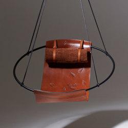 Sling Hanging Chair - Debossed Leather