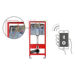 TECEprofil toilet module with integrated hygiene flush