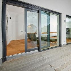 Aluminum clad wood lift-slide system