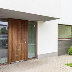 Wooden entry doors