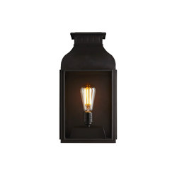 0276 Wall Lantern Weathered Brass, Clear Glass