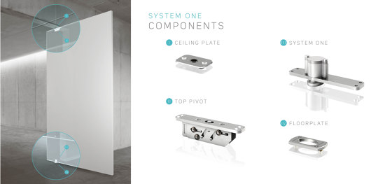 System One | Steel Entrance Pivot Door by FritsJurgens