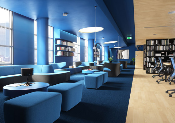 Club + Pouf by LD Seating