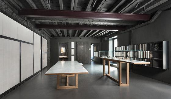 Span - Coffee table 113 x 113 x h26 cm Bianco Carrara by Salvatori