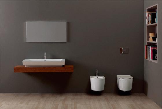 Bidet Form BTW / Appoggio Square H50 by Alice Ceramica
