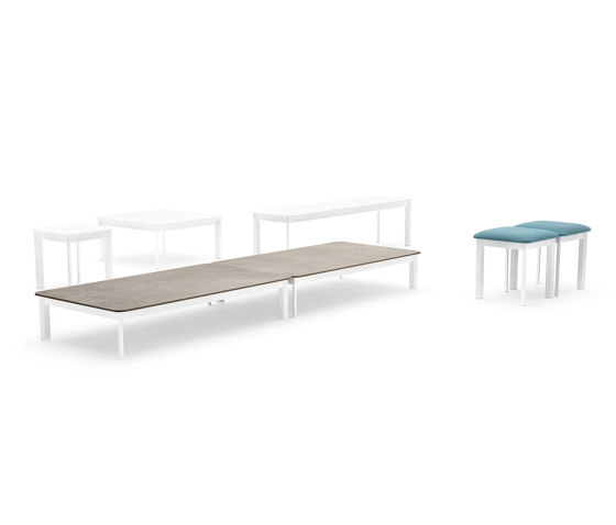 System coffee table by Varaschin