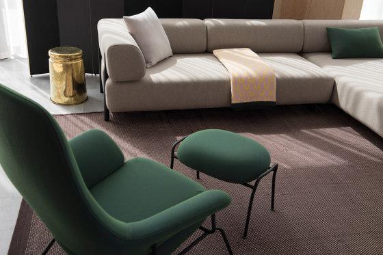 Hai Chair Ink + Ottoman by Hem Design Studio