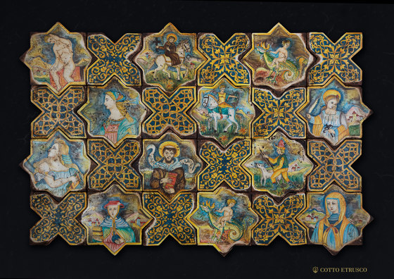 Medioevo   Decori Affreschi 06 de Cotto Etrusco