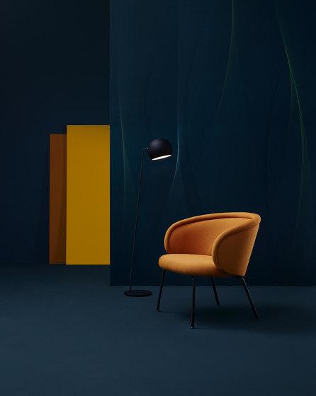Ona | Armchair with wooden frame by FREIFRAU MANUFAKTUR