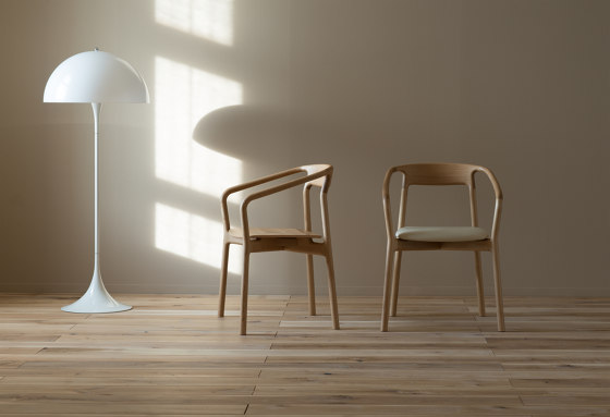 Armchair - wood seat by Conde House