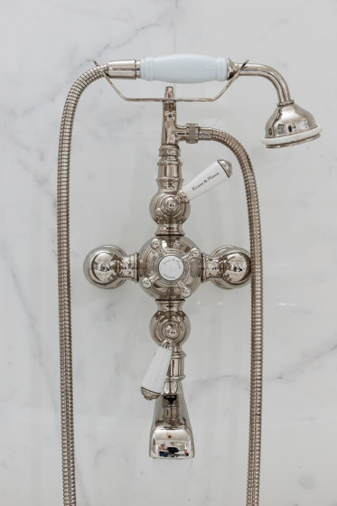 Thermostatic bath-shower mixer Wall mounted by Kenny & Mason