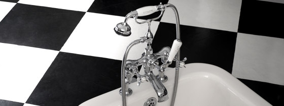Edwardian Fixed Rigid Riser & Shower Arm by Czech & Speake