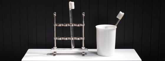 Edwardian Lavatory Brush and Holder, Wall Mounted by Czech & Speake