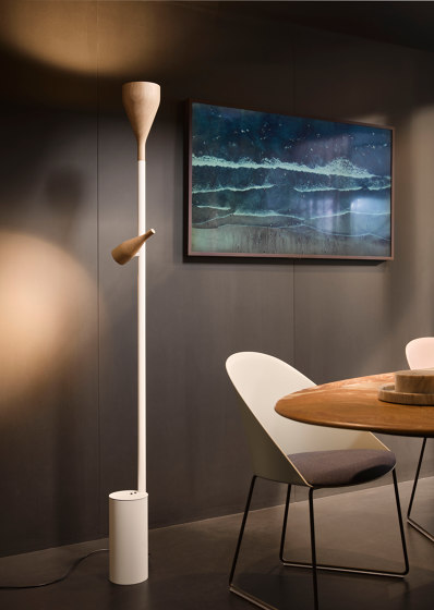 Timber, white, large by Hollands Licht