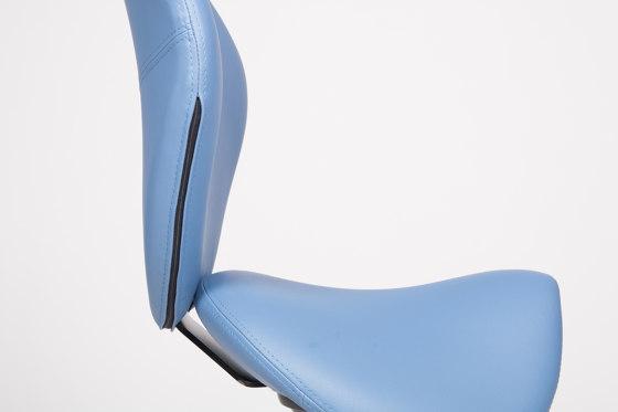 sella | Saddle chair with backrest de lento