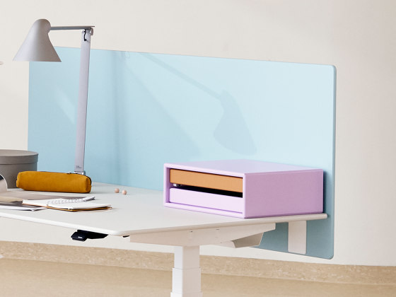 Plug wells | HiLow table component by Montana Furniture