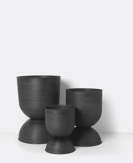 Hourglass Pot - Extra Small - Black/Dark Grey by ferm LIVING