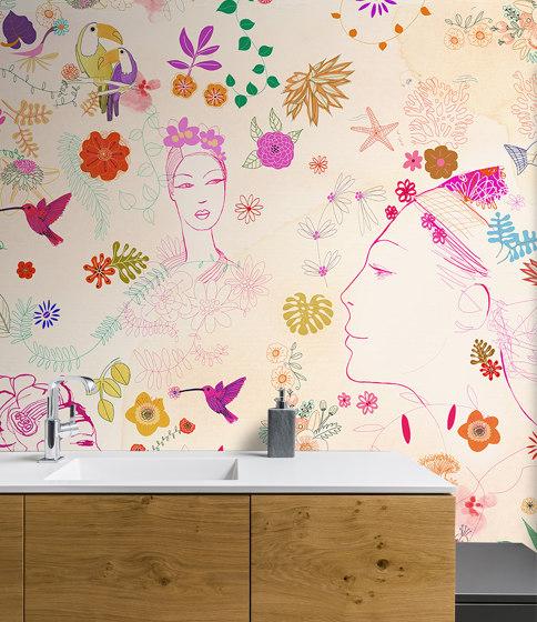 Watercolor, nature decor and fashion style di WallPepper