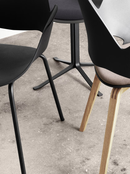 FALK | Dining armchair - Oiled oak legs, Amber seat by HOUE