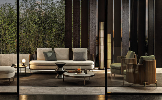 Tape Cord Outdoor armchair by Minotti