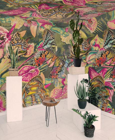 Flowers Butterflies white | artist wallpaper by Ginny Litscher