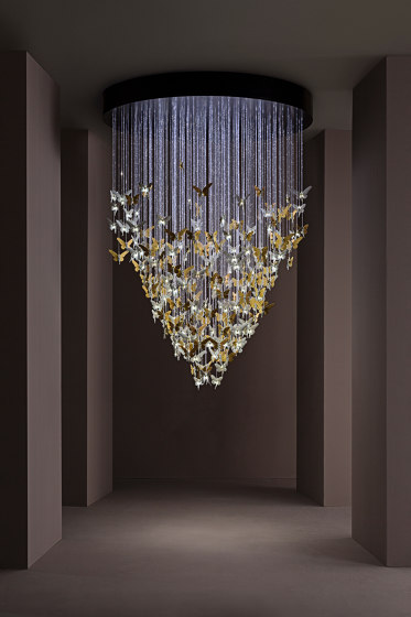 Re-cyclos Magic Forest Chandelier 1.35m (CE/UK) | White de Lladró