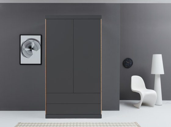 Flai Wardrobe CPL anthracite by Müller small living