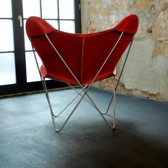 Hardoy Butterfly Chair OUTDOOR Batyline anthrazit mit Ottoman von Weinbaums
