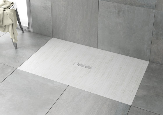 Helios   Shower tray   Slate by ROCA