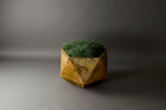 Femkant Garden Planter, Rusted Steel Effect by Adam Christopher Design