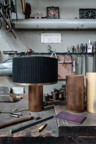 Brera table lamp petrol by Strolz