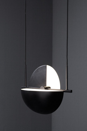 Trapeze Pendant Chrome by Oblure