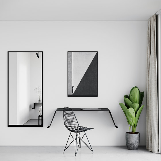 Mirror Small 49 x 79cm - Black by Nichba Design