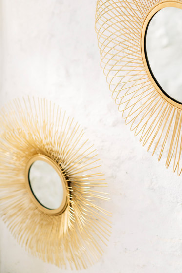 Wall Mirrors | Metal Flower Wall Mirror Ø61X10 by Andrea House