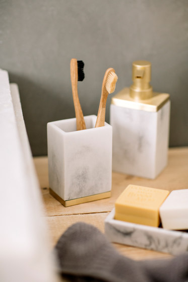 Bathroom Sets | Sq. S/S Soap Dispenser by Andrea House